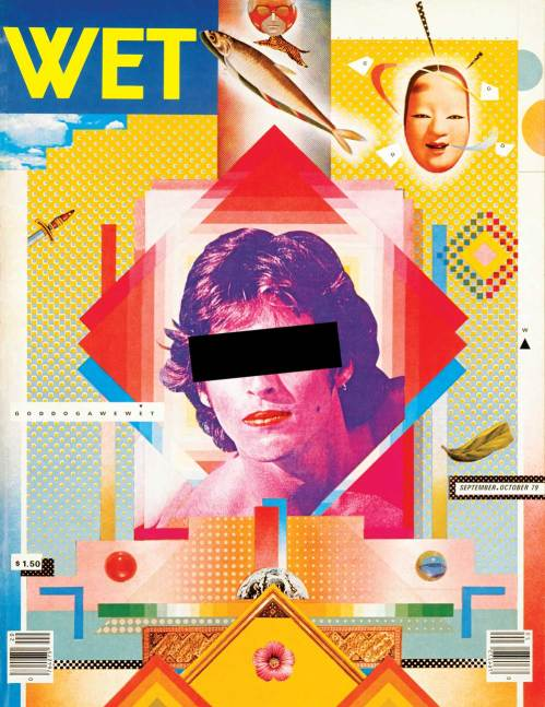 Wet: The Magazine of Gourmet Bathing no.20. Design by April Greiman in collaboration with Jayme Odgers