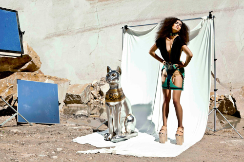 'Bastet' by Úna Burke Spring Summer 2012. Lookbook Art Direction: Adia Trischler