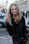 A Model's Smile – Paris, Outside Rochas