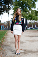 White Leather Mini – Paris FW